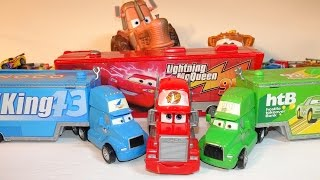 Pixar Cars Character Encyclopedia with MACK , Lighnting McQueen Hauler and The King Hauler and Chick