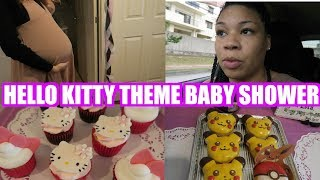 IT'S A GIRL! BABY SHOWER HELLO KITTY THEME + CHRISTMAS SHOPPING IN JAPAN VLOGMAS DAY 8