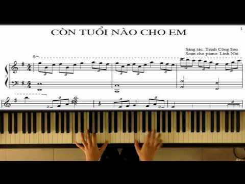 Còn Tuổi Nào Cho Em (Trịnh Công Sơn)   Piano Tutorial