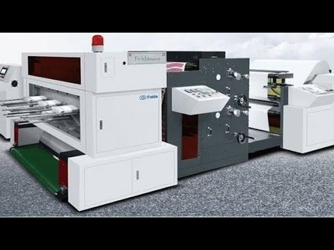 2 Colors Flexo Printing and Die Punching Machine for Paper ...