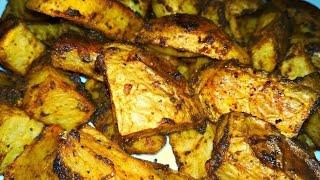Вкусный картофель в духовке  Картошка по деревенски