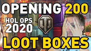 Opening 200 Loot Crates in World of Tanks