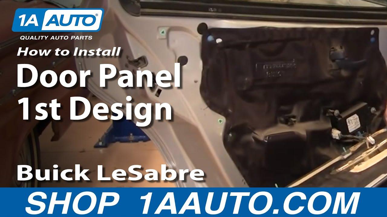 remove rear door panel  buick rendezvous