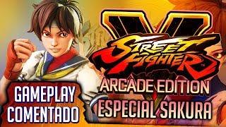 Modo Arcade (SFA) y Modo Historia con Sakura | STREET FIGHTER V: ARCADE EDITION [Gameplay]