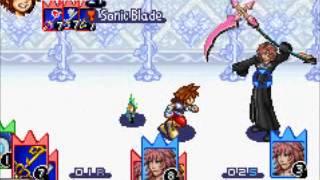 Kingdom Hearts Chain of Memories Sora vs Marluxia
