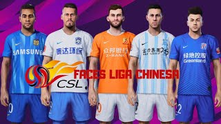 PES 2020 TODAS AS FACES REAIS LIGA CHINESA!
