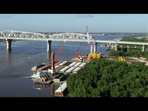 Drone video from Mississippi River barge fire site: raw footage
