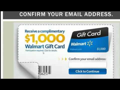 Free Walmart 1000 Gift Card - YouTube