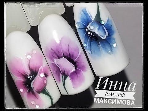 Цветы на ногтях дизайн фото