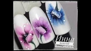 🌸Нежные ЦВЕТЫ на ногтях🌸Дизайн ногтей гель лаком🌸Nail Design Shellac🌸