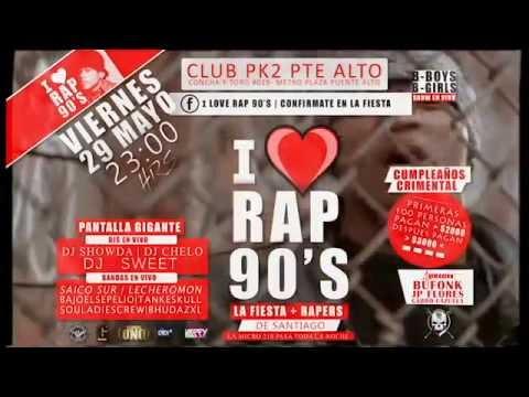 comercial i love rap de los 90s la gran fiesta viernes 29