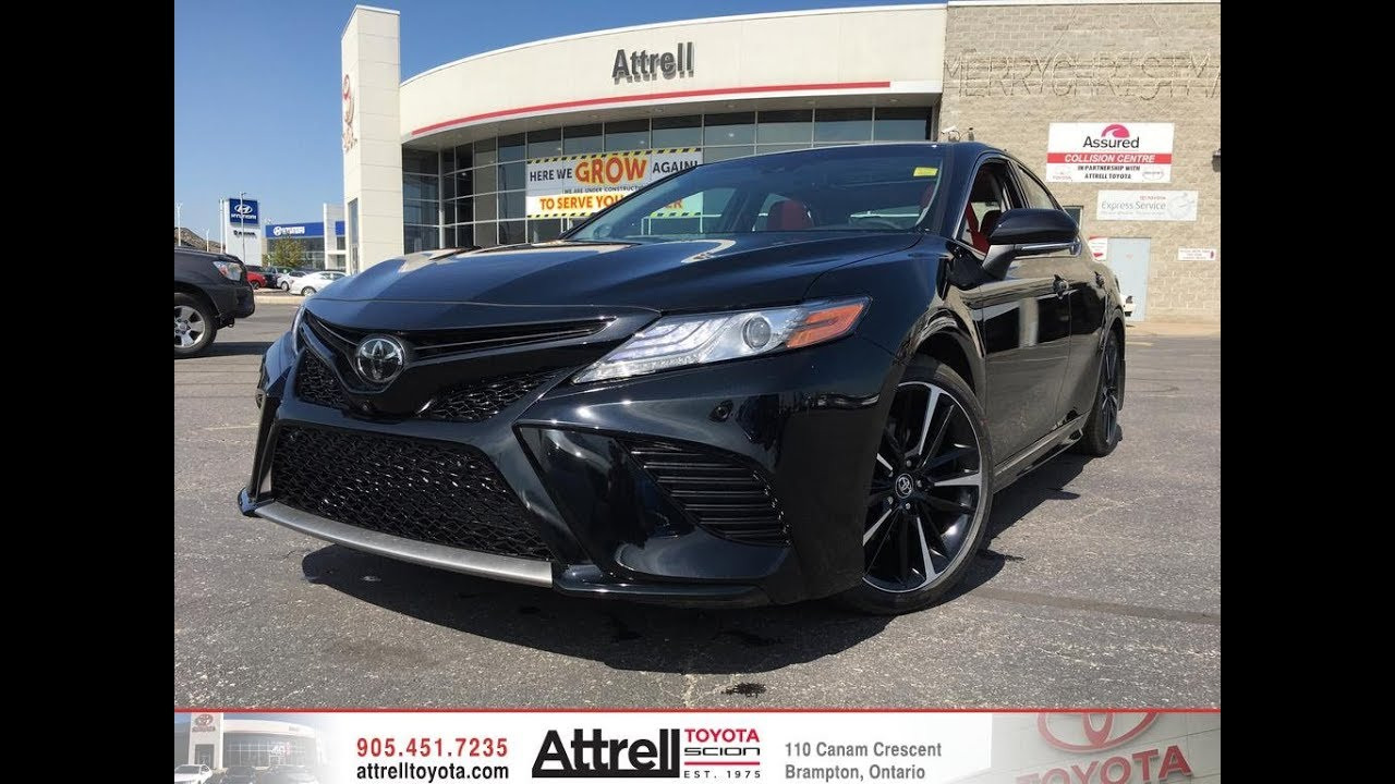 2018 Toyota Camry Xse V6 Red Leather Interior Attrell Toyota Brampton On