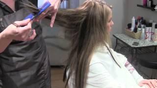Стрижка и текстурирование нарощенных волос