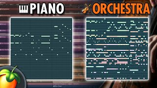 From Piano Idea to Crazy Orchestra in 5 Minutes (How To Write Orchestra Music)