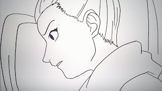 How To Draw Ino Yamanaka.イノの山中を描画する方法.