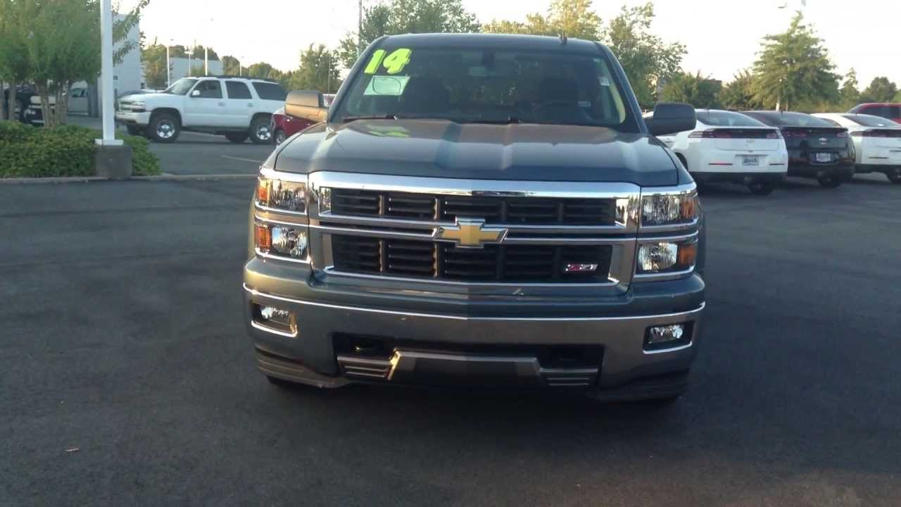 2014 Chevrolet Silverado Double Cab Blue Granite Burns