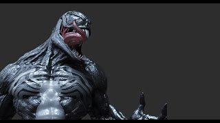 3D Modeling and sculpt a Venom statue  by Gerson Rother - marvel