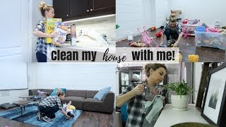 Clean my house with me! - MOTIVATION | Basement and Kitchen | Nesting Story