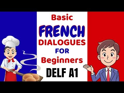 Learn French - Basic French Dialogues and Conversation for Beginners - DELF A1 speaking exam
