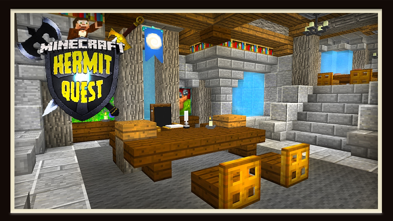 Hermit Quest Building Awesome Castle Interior Designs Youtube