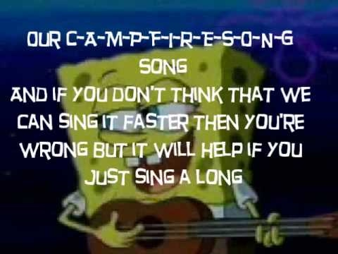 spongebob campfire song song sing long youtube