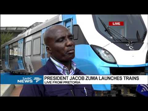 President Jacob Zuma launches trains