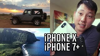 iPhone X Camera vs iPhone 7 Plus for Video Tests | Slow Motion | Low Light | 4K