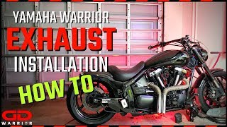 How to Yamaha Warrior Exhaust Installation with GD WARRIOR