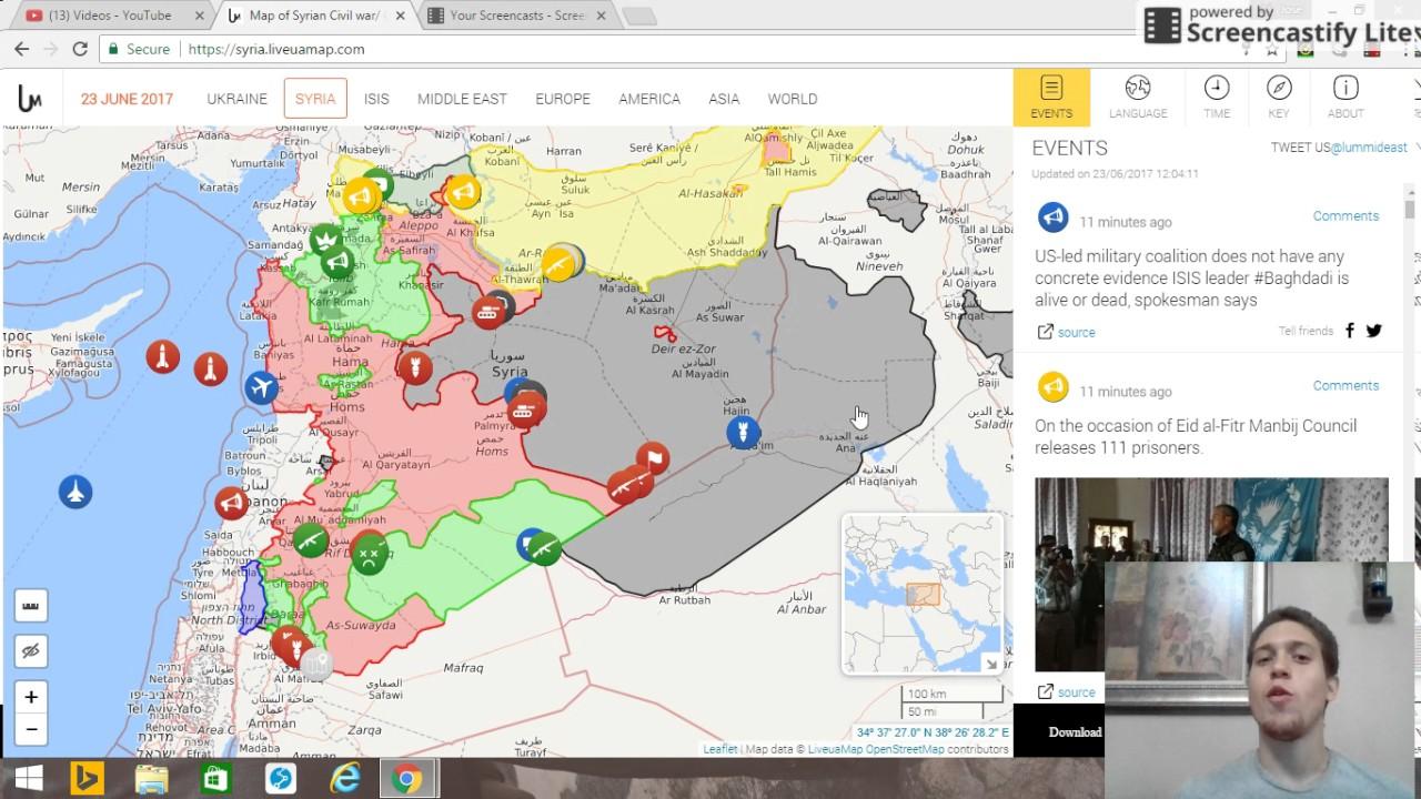 23 De Junio De 2017 Mapa De La Situacion Militar En Siria Irán