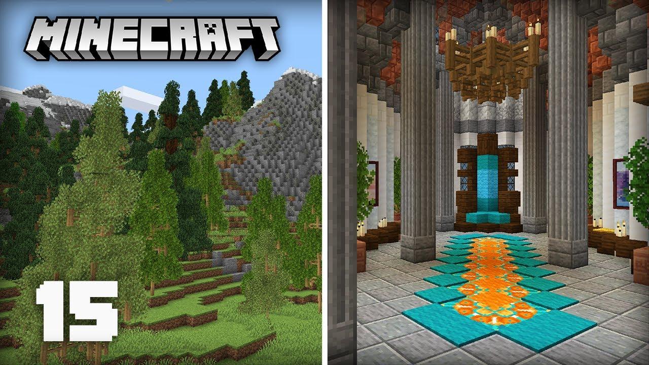 Huge Mountain Progress & Castle Throne Room! | Minecraft 1.17 Survival Lets Play