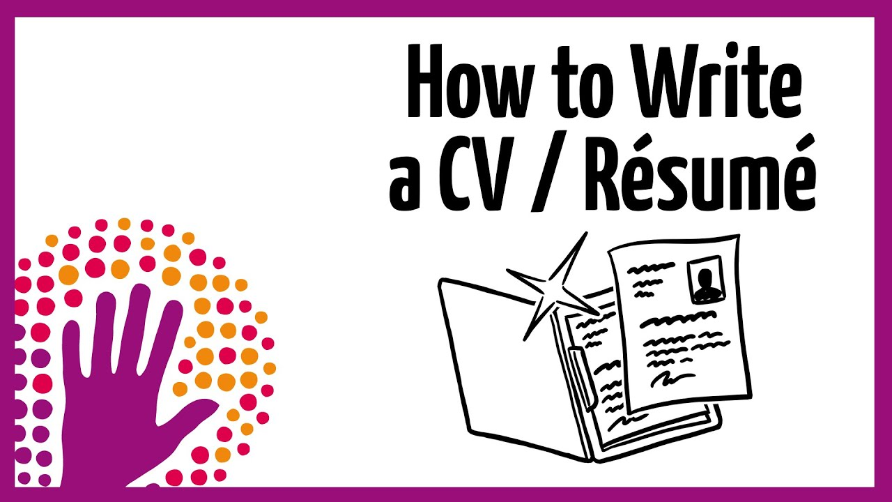 how to write a resume for a job application