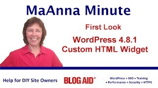 New Custom HTML Text Widget in WordPress 4.8.1 - Sneak Peek