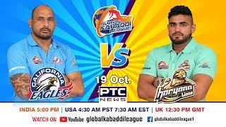 Global Kabaddi League   Match 10: California Eagles Vs Haryana Lions