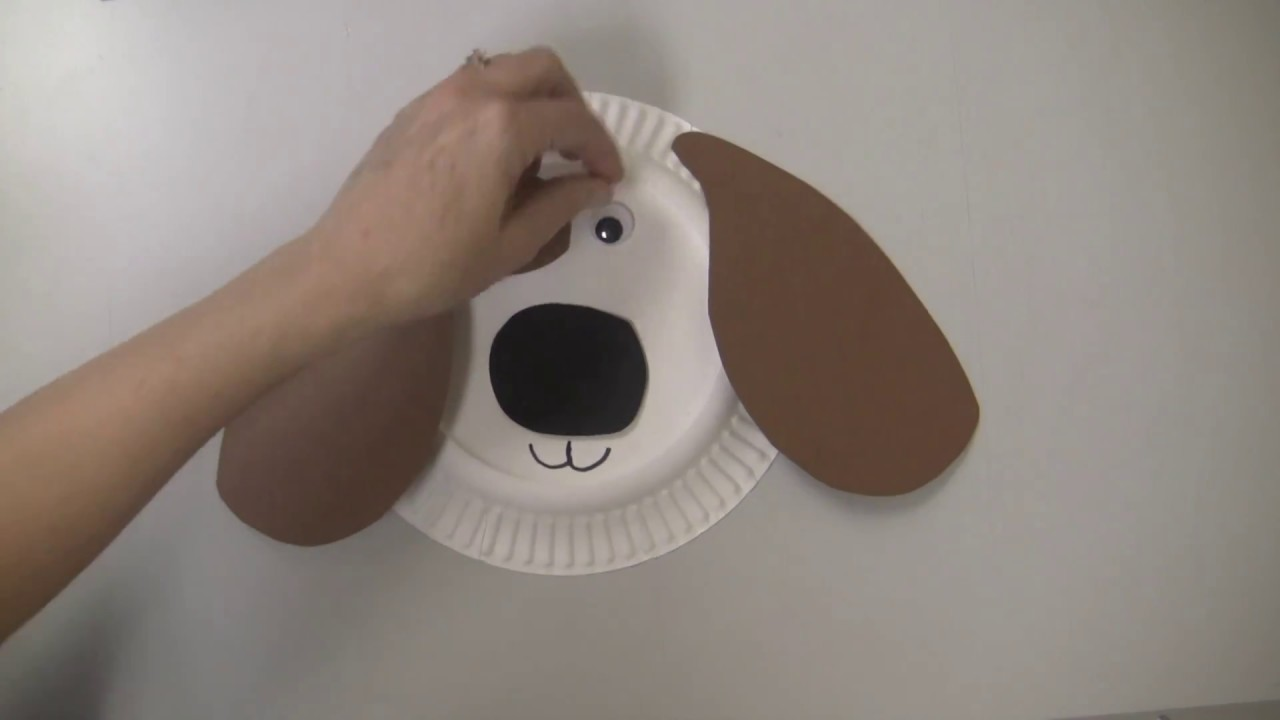Paper Plate Dog Craft - YouTube
