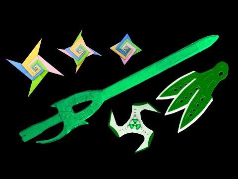 04 Cool Paper #Sword #Knife and #Origami #Ninja Star