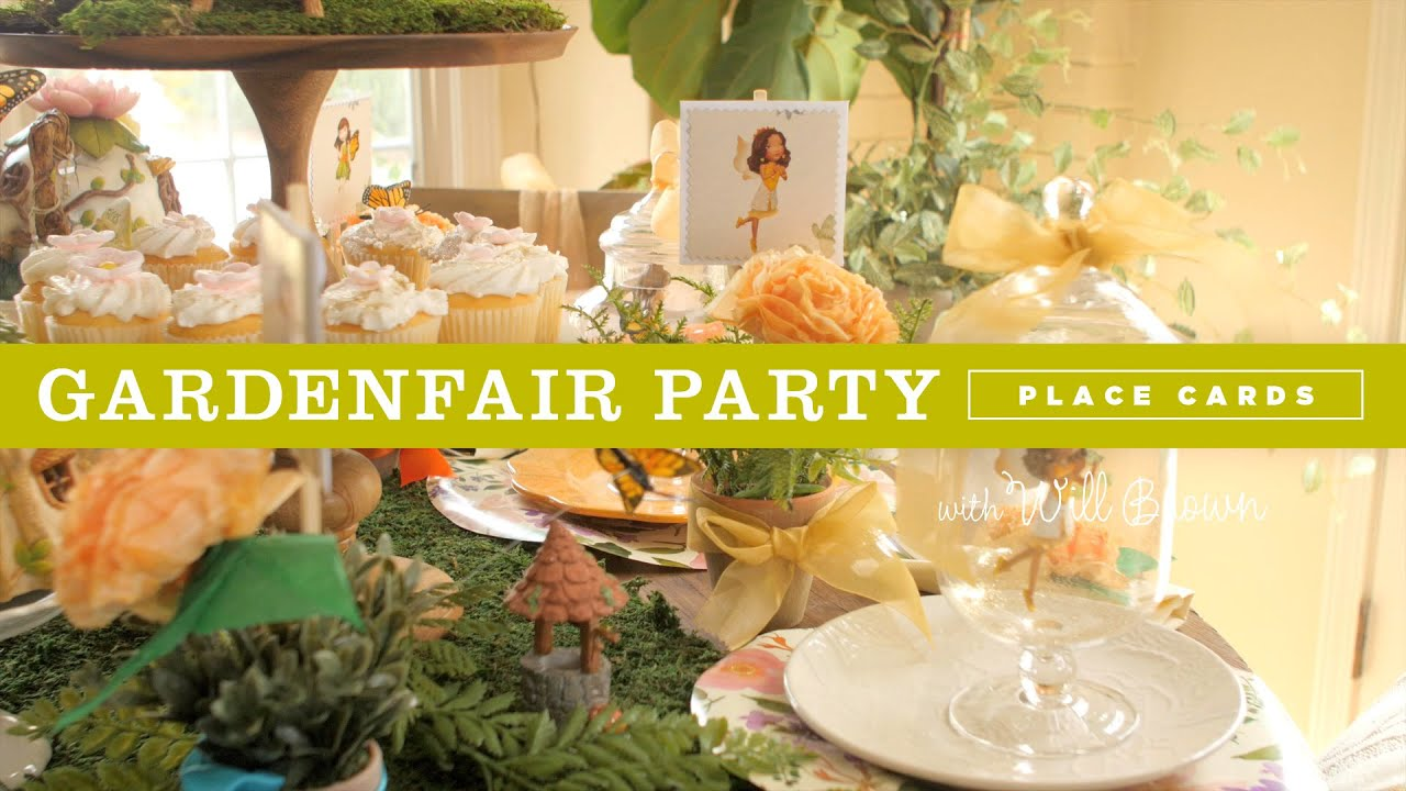 DIY Fairy Garden Party Ideas: place cards and party favors - YouTube