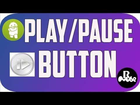 Android Play Pause Action Button using Image Button in android studio