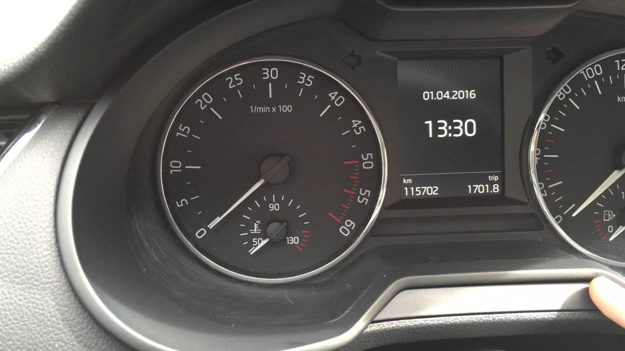 Koda Octavia 3 Inspection Message Reset Youtube Skoda Vrs Fuse Box