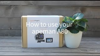 How To Use Apeman Action Camera A80