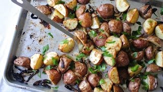 Crispy Garlicky Mustard Roasted Red Skin Potatoes
