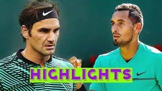 Roger Federer vs Nick Kyrgios -  Highlights STUTTGART 2018 (HD)
