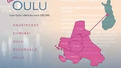 Viiden kunnan yhdistyminen uudeksi Ouluksi - diasarja