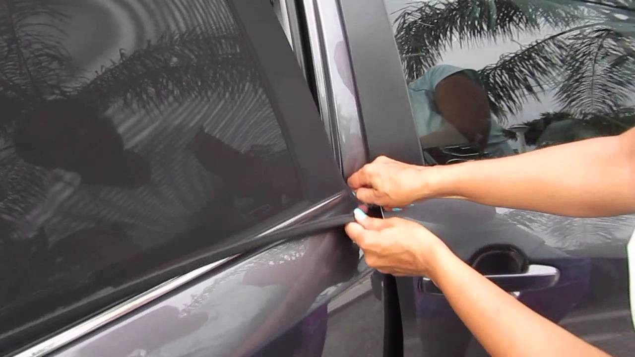 EZ-Slip Premium Adjustable Shade - Car Side Window Baby Sun Shade review -  YouTube fe2c5611fa3