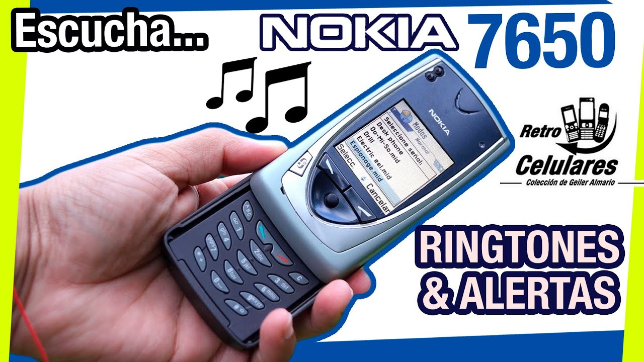 Escucha TONOS Y ALERTAS del NOKIA 7650 / Retro Celulares 4K