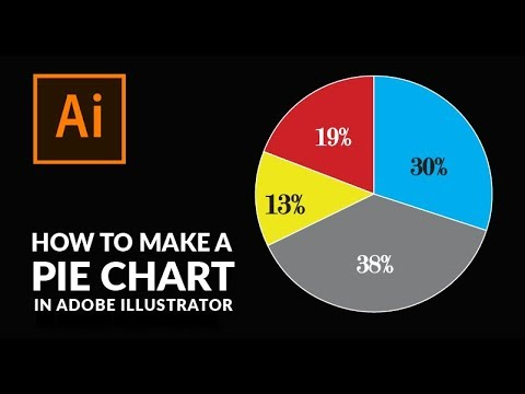 How To Create A Pie Chart In Illustrator Youtube