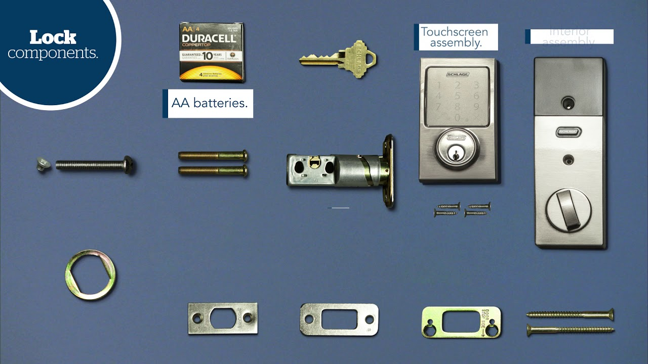 Schlage Sense Smart Deadbolt Installation Guide Youtube