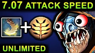 UNLIMITED ATTACK SPEED SLARK - DOTA 2 PATCH 7.07 NEW META PRO GAMEPLAY