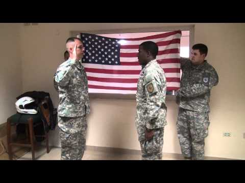 Re-enlistment, US Army.