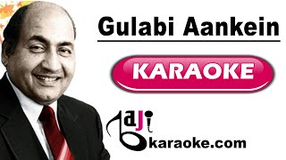 Gulabi Aankhen Jo Teri Dekhi - Video Karaoke - Original Version - Rafi - by Baji Karaoke Hindi