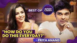 Candid moments with Dhruv Vikram and Priya Anand | Best of Spotlight | Sun Music